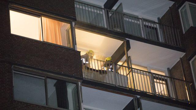 Matras brand op balkon