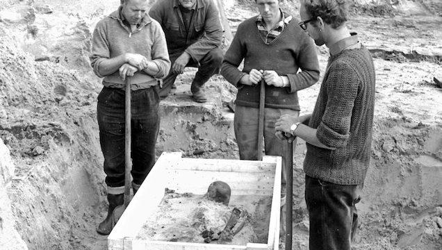 skelet opgegraven