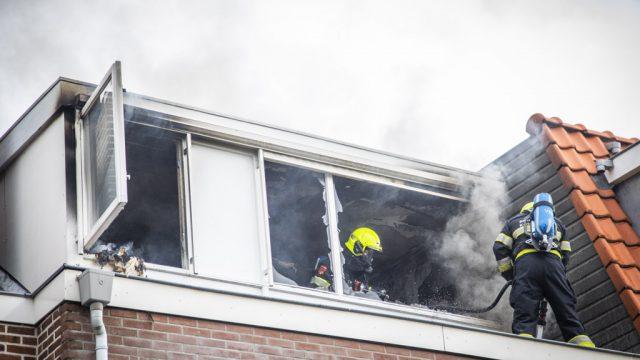 Uitslaande brand in Bloemendaal