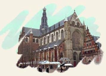 Koorzang klinkt in de Grote of St. Bavokerk Haarlem