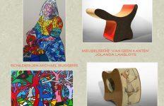 'Van geen kanten', expositie van schilderijen en meubels